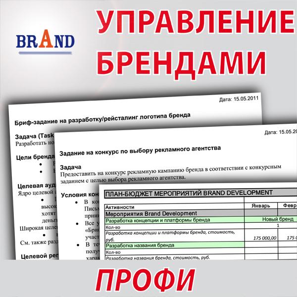 <h1>Пакет инструментов для бизнеса Управление брендами Профи</h1>