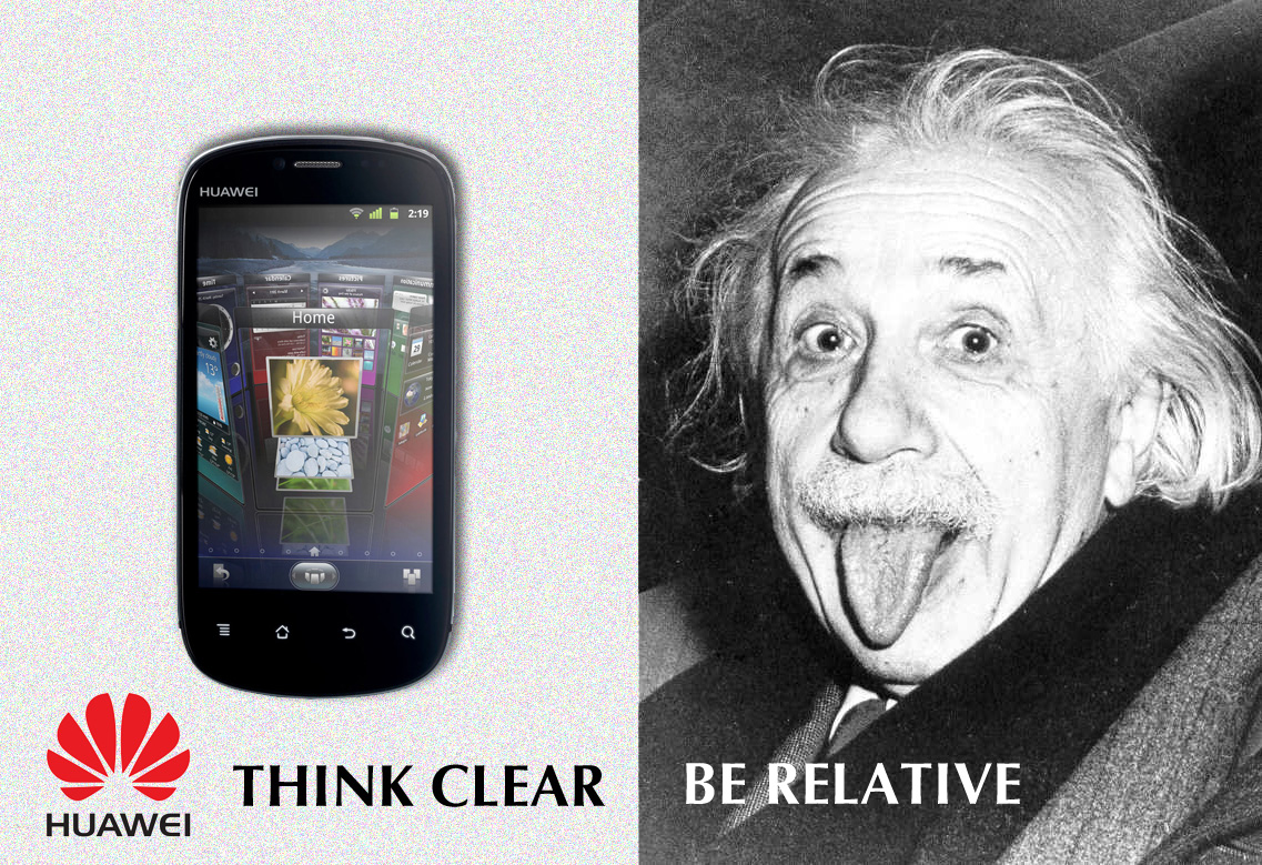 THINK CLEAR. BE RELATIVE! (пародия на THINK DIFFERENT!)