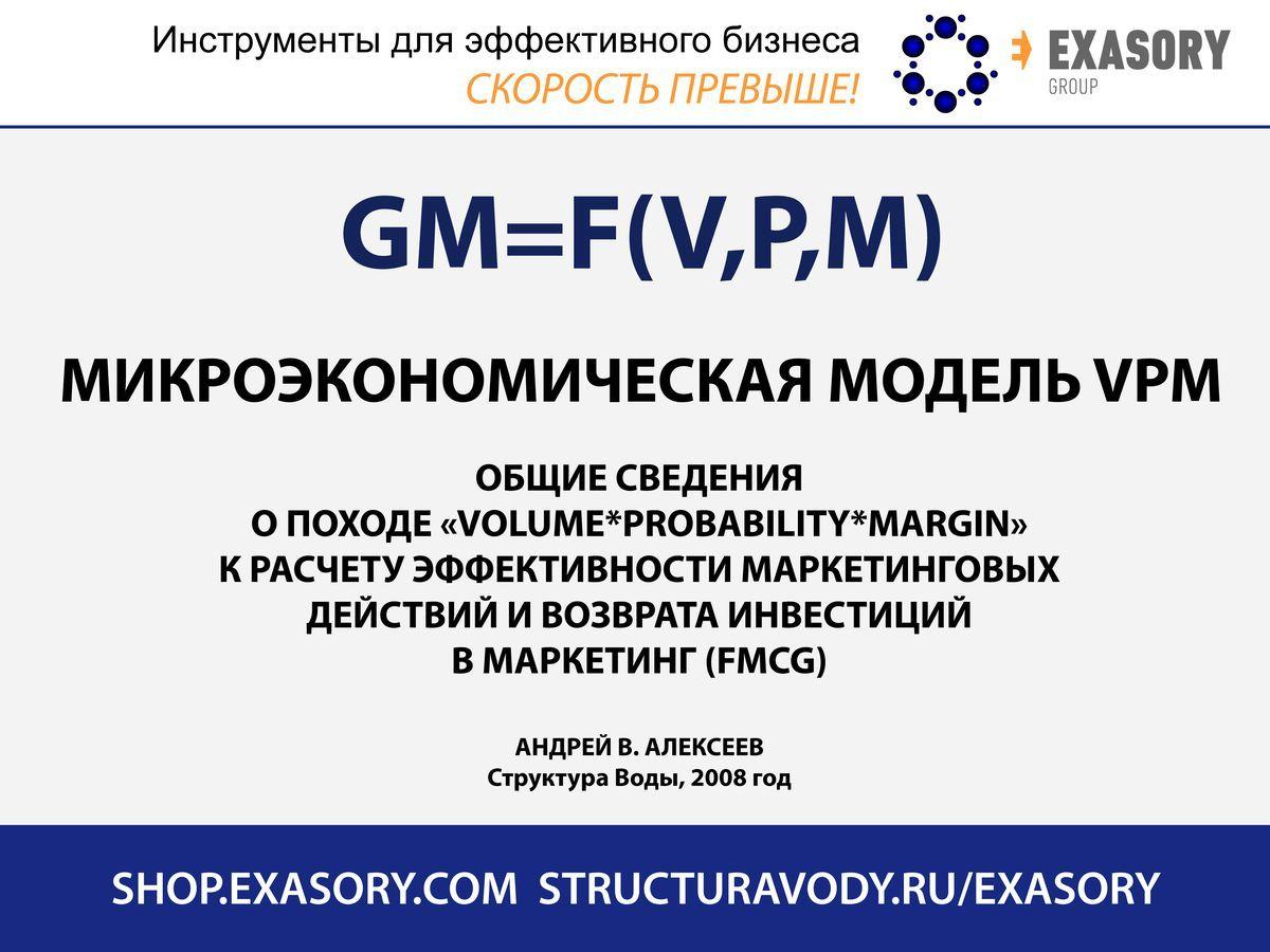 Микроэкономическая модель расчетов эффективности маркетинга VPM - общие сведения